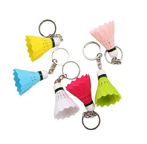 FREE SHIPPING BY DHL 500pcs lot Hot Selling Plastic Mini Badminton Keychains Sports Keyrings Gifts