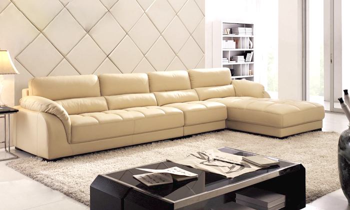 Free Shipping Chesterfield Sofa Door To Door Service 2013 New Euro Genuine Leather  L Shaped Corner Sofa Multi Combination Sofa In Living Room Sofas From ...