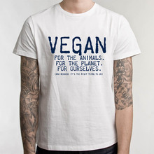 Vegan, For The Animals. For The Planet. For Ourselves. Men's T-Shirt