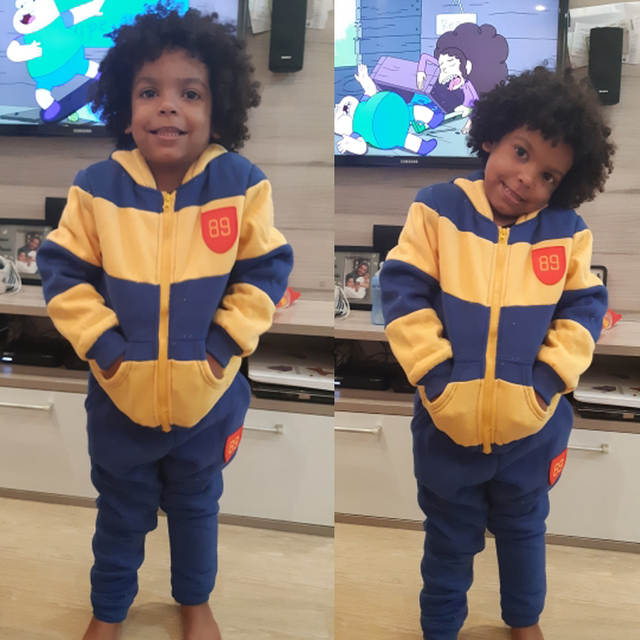 2aa9b7b19320f BOYS 2 pieces sets 2-7 years old Hooded & pants velvet thickening kids  clothes