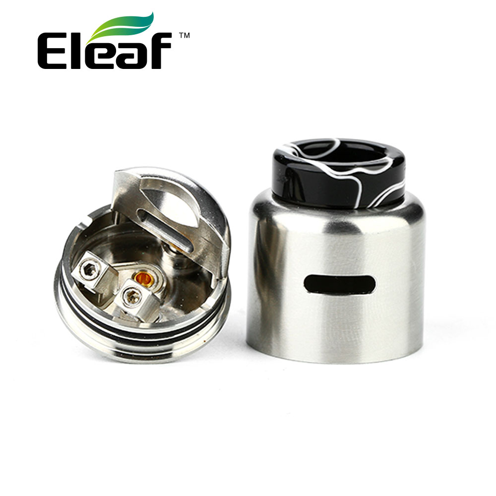 New Eleaf Coral 2 RDA Tank 24mm Rebuildable Drip Atomizer with Large Build Deck Fit Eleaf IStick Pico Squeeze Vs Loop RDA / RTA original eleaf istick pico squeeze 2 kit 4000mah battery with coral 2 rda