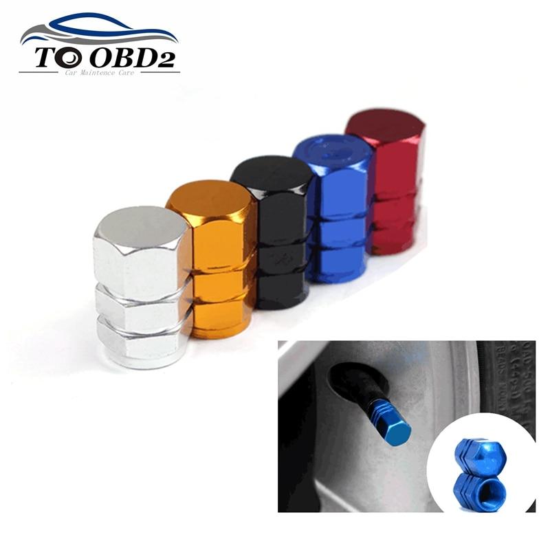 4 pc/lote tampões da haste da válvula do pneu do carro theftproof tampas da válvula do carro de alumínio pneus da roda válvulas tampas hermético capa accessoire