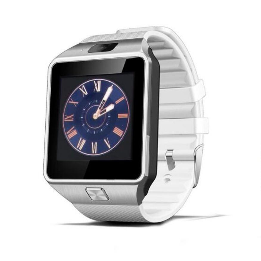 Самые дешевые DZ09 Bluetooth Смарт-часы для мужчин Интеллектуальные цифровые спортивные Смарт-часы Поддержка SIM TF карты напоминание о сообщениях дропшиппинг - Цвет: white