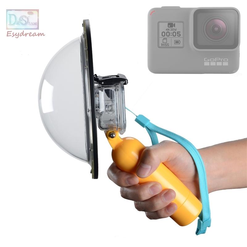 Prix pour Étanche 6 pouce Dôme Fisheye Lens Cover pour GoPro Hero 5 Aller pro Hero5 Noir Boîtier Sous-Marin Fish Eye Lentille Accessoires