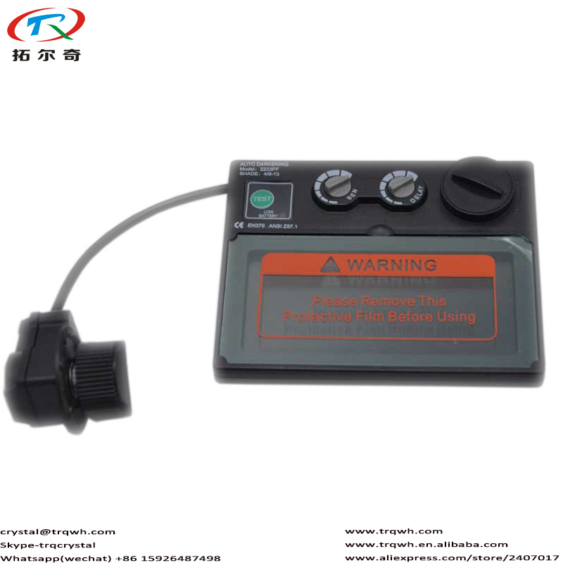 1pc Tig Mig Arc Argon Welding Filter Lens Glass Auto Darkening Battery CR2032 Replaceable Self Check Function Low Power Warning