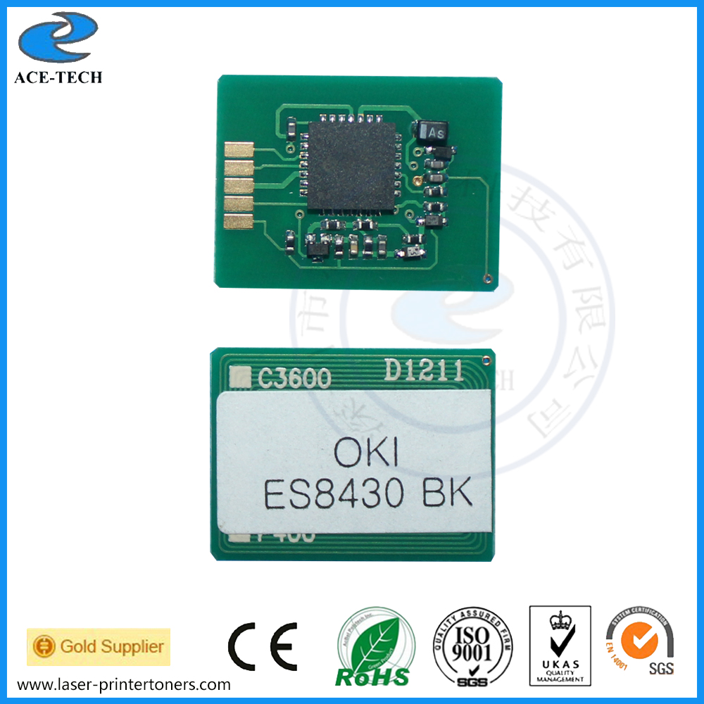 Laser toner reset chip for OKI ES8430dn color printer refill cartridge 44059125~44059128 52123602 1279101 toner cartridge chip for oki data b720 b720d b720n b730n b730dn b730 laser printer powder refill reset 20k