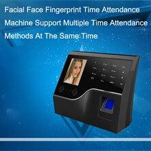 Sistema de asistencia de huellas dactilares biométrico, reloj de empleado, huella dactilar facial, USB/TCPIP máquina de tiempo, sistema de Control de acceso de puerta