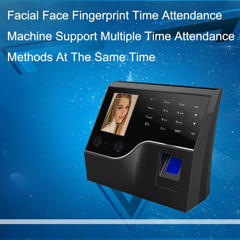 Système Fréquentation à Temps d'empreintes digitales Biométrique Employé Horloge Visage D'empreintes Digitales USB/TCPIP Time Machine Porte système de Contrôle D'accès