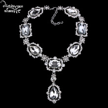 Dvacaman Brand 2017 Luxury Za Crystal Pendant Necklace Valentine's Day Gift For Women Party Statement Jewelry Choker Collare M62