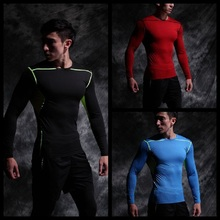 Men's Compression Tights T Shirt Brand jogges Bicycle Fitness Men tees Long Sleeve Moisture Wicking Quick-drying Male T-shirt