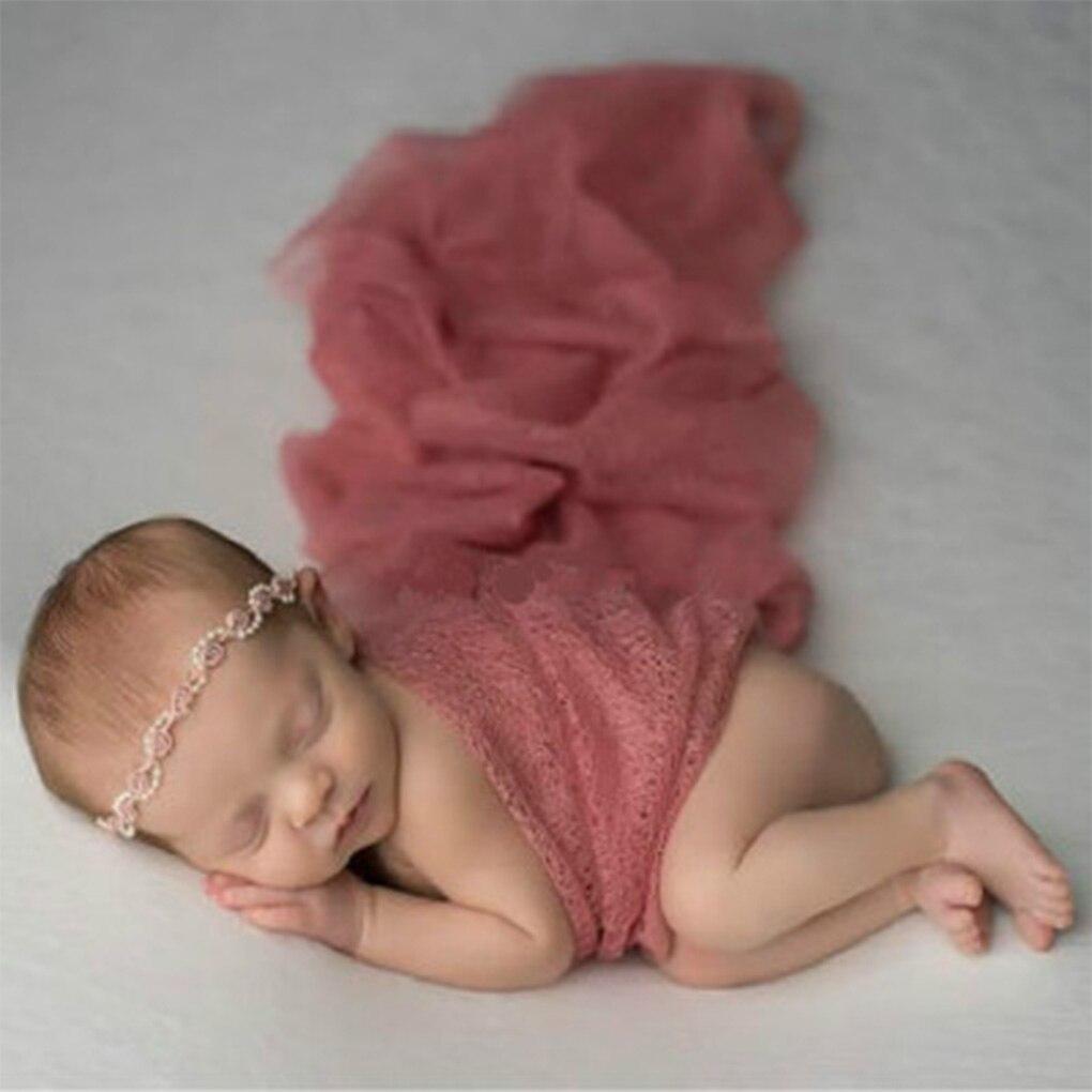 Weich lang Elastisch Baby Photography Props Neues Wrap Pelz von Faux Decke