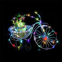 5m 50 leds copper wire christmas lights outdoor led string fairy lights decoration powered by AA battery with remote control