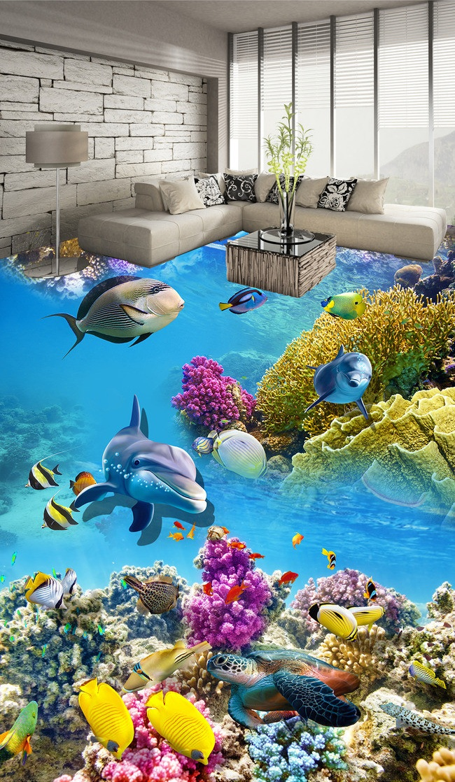 3 d pvc flooring custom wall sticker Underwater world coral fishes 3 d bathroom flooring painting photo wallpaper for walls 3d 3 d pvc flooring custom wall sticker underwater world coral fishes 3 d bathroom flooring painting photo wallpaper for walls 3d
