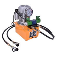 цена на High Pressure Double Action Electric Hydraulic Pump with electron magnetic valve With pedal  1400 (r/min) 0.9(L/min) ZCB-700AB-2