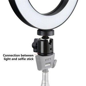"Image 4 - 유니버설 14.5 ""led 링 라이트 디 밍이 가능한 3200 k 5500 k 고리 형 메이크업 램프 및 삼각대 스튜디오 사진 촬영 조명"