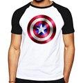 Homens de verão de algodão t-shirt The Avengers capitão américa Escudo masculino t camisa dos homens de impressão cobre t Steve Rogers camisa de T para homens