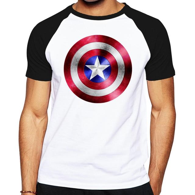 0dde781a Summer men cotton t-shirt The Avengers captain america Shield male t shirt  tops tees Steve Rogers printing men's T shirt for men