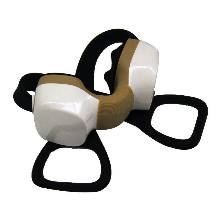 3D rechargeable cervical vertebra massager portable neck massage instrument infrared wireless kneading neck massager rechargeable 4 mode neck shoulder massager w music pink