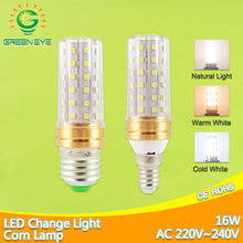 NEW LED Lamp E27 E14 LED bulb 16W AC220V 240V Corn Bulb Light 60 SMD 2835 change colour warm white/cold white/natural white(China)
