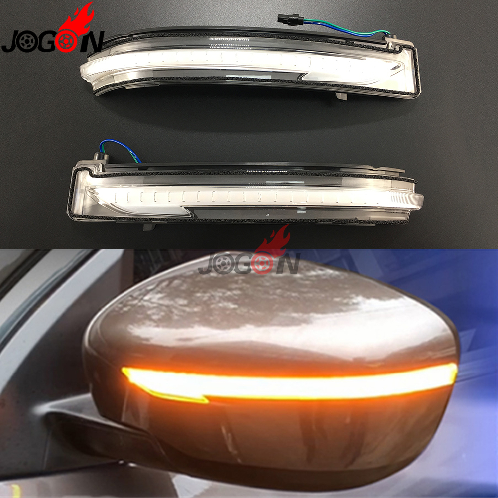 For Nissan X-Trail T32 Qashqai J11 Murano Z52 Navara NP300 Pathfinder LED Dynamic Turn Signal Light Rear Mirror Indicator intermitente espejo nissan qashqai j11