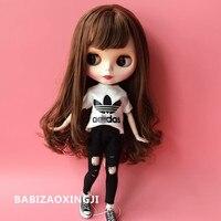 1 6 Blyth Doll Clothes Accessories Fashion T Shirt Jeans For Barbie Doll Blyth 30cm Doll