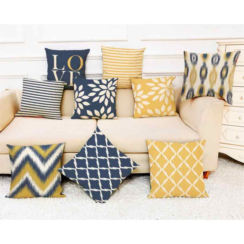 2018 Pillow Case 45*45 Home Decor Cushion Cover Love Geometry Throw Pillowcase Pillow Covers NEW Free Shipping NEW DE25