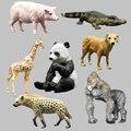 Farm animal selvagem modelo de orangotangos panda girafa de ouro hyenas suínos modelo animal brinquedos modelo de simulação de animais