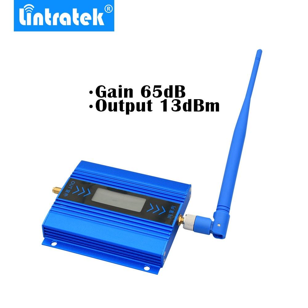 Lintratek pantalla LCD Mini repetidor GSM 900MHz para móvil teléfono GSM 900 amplificador de señal + Antena Yagi con 10m de Cable - 3