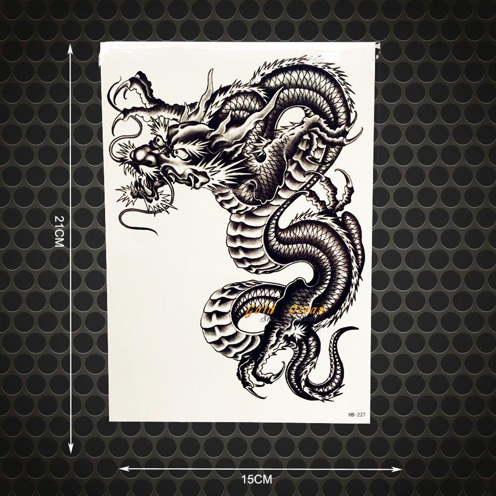 Us 093 Moda Dragon Ball Wzór Fałszywe Flash Metaliczny Czarny Duże Ramię Tatuaż Naklejki Ghb227 Mężczyzn Body Ramię Klatki Piersiowej Na Ramię Z