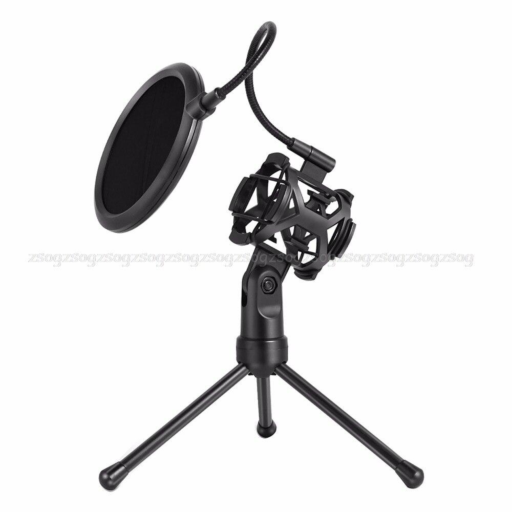 Microphone Pop Filter Holder Stick Desktop Tripod Stand Anti-Spray Net Kit PS-2 JUN13 dropshippingMicrophone Pop Filter Holder Stick Desktop Tripod Stand Anti-Spray Net Kit PS-2 JUN13 dropshipping