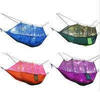 Duplo parachute rede mosquiteiro cadeira turismo flyknit hamaca hamak rede jardim balanço acampamento amaca hangmat dormir hamac
