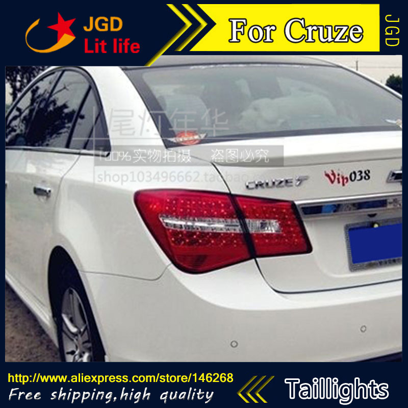 Car Styling tail lights for Cruze 2012 taillights LED Tail Lamp rear trunk lamp cover drl+signal+brake+reverse