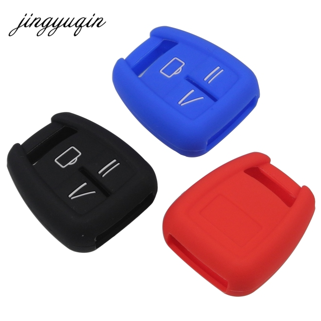 jingyuqin Silicone Fob Cover Fit For Vauxhall Opel Astra Zafira Vectra Tigra Omega Signum Frontera 3 Button Remote Car Key Case