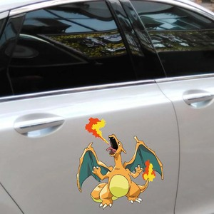 Image 4 - 12.7 سنتيمتر * 13.6 سنتيمتر بوكيمون Charizard ملصقات السيارات الكرتون Charizard الشارات الإبداعية دفتر كمبيوتر محمول سيارة ألعاب كهربائية التصميم