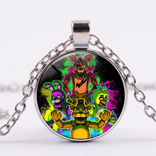 6 Styles Five Nights At Freddy's Action Figure Toy Foxy Chica Freddy Necklace Alloy Toys Birthday and New year Gifts