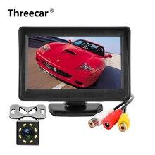 Sistema di parcheggio Auto Monitor NTSC PAL 4.3 Pollici TFT LCD Car Monitor con 8 LED di visione notturna di Parcheggio Posteriore Vista macchina Fotografica di Backup