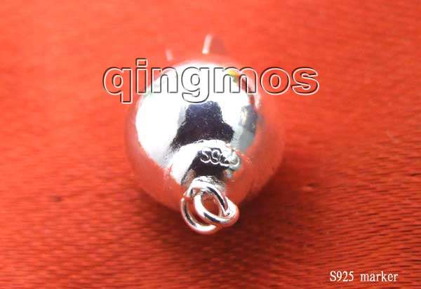 SALE Big 10mm round ball one strings Sterling Silver S925 Clasp gp22 in Jewelry Findings Components from Jewelry Accessories