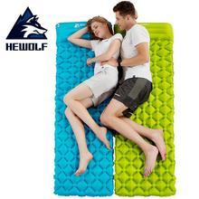 HEWOLF Outdoor Inflatable Cushion Air Mattress Portable Ultralight Bed Moistureproof Camping Mat With Pillow Sleeping Pad