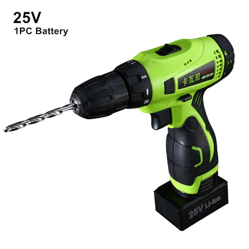 25v Cordless Screwdriver Rechargeable Drill Battery Electric Drill One Lithium Battery Plus Parts Parafusadeira Furadeira Tools стоимость