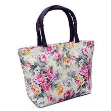Fashion Floral pattern Design Women Handbag Durable Canvas Portable Handbags Female Small Casual Tote Bag Shopping Bags