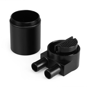 Image 5 - RASTP Hot Selling Black Aluminum Oil Catch Can Tank With Radiator Silicone Hose For BMW N54 335i 535i RS OCC016