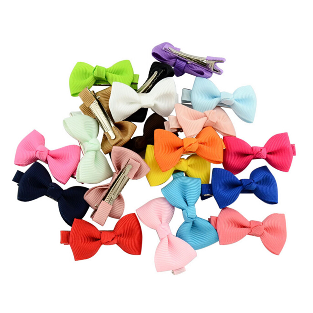 Girls Kids Baby Bow Ribbon Hair Bands Mini Latch Hair Clips Hairpins Accessories