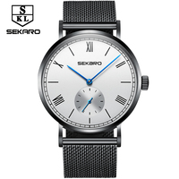 Sekaro 2017 New Genuine Automatic Mechanical Watch Simple Men S Watches Fashion Trend Waterproof Steel Wire