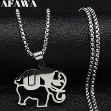2019 Fashion Elephant Stainless Steel Chain Necklaces for Men Silver Color Necklaces Pendants Jewelry colgante hombre N18891 smart watch android 4 4 os 3g phone mtk 6572 dual core 1 2ghz 4gb rom 512mb ram smart watch gps