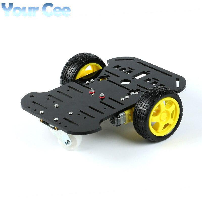 1 unids Nuevo Motor de Smart Robot Car Chasis Fabricación Electrónica Kit DIY Ob