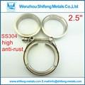 2.5 ''Normal v-band clamp con (Macho y Hembra) brida kit vband clamp brida de acero inoxidable kit