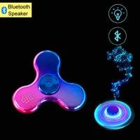 New Fidget Spinner Bluetooth Speaker Hand Spinner Funny Finger Spinner EDC Figet Spinner Anti Stress Fluorescent Toys
