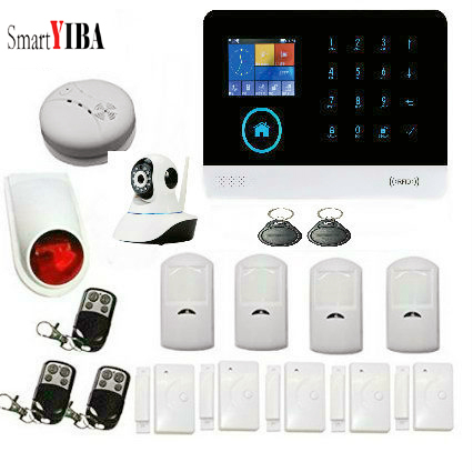 SmartYIBA APP Control Wireless WiFi GSM Anti-Theft Alarm System IP Camera Android IOS Home Security Residential Motion SensorSmartYIBA APP Control Wireless WiFi GSM Anti-Theft Alarm System IP Camera Android IOS Home Security Residential Motion Sensor