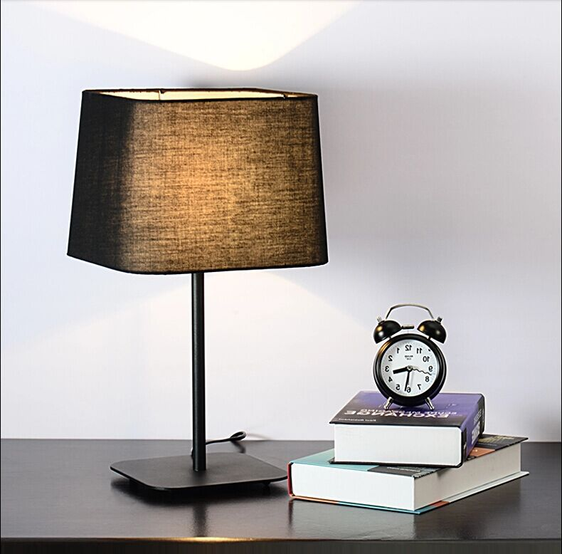 Home Restaurant Hotel Simple White Table Lamp Bedroom Bedside Warm Desk Lamp Children's Study Fabric Table Lamp 2 receivers 60 buzzers wireless restaurant buzzer caller table call calling button waiter pager system