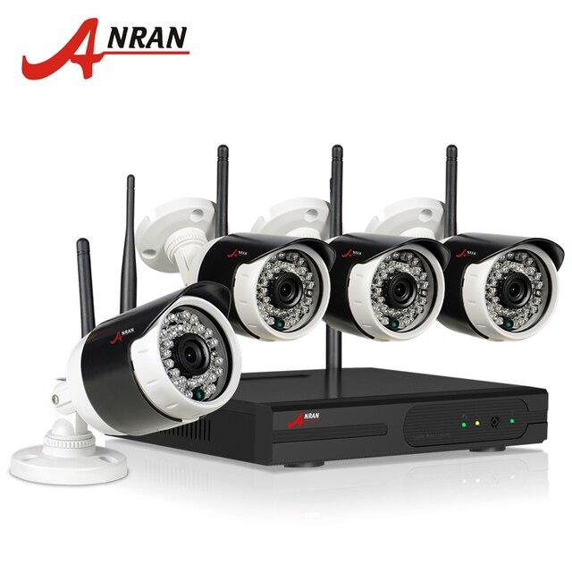 ANRAN Подключи и Играй 4CH Системы Видеонаблюдения Беспроводной Комплект NVR P2P 720 P HD 36 ИК Ночного Видения, Электронной Почты, Сигнализация WI-FI Ip-безопасности камера